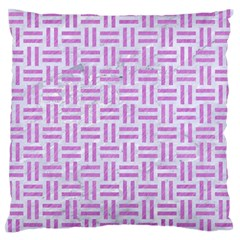 Woven1 White Marble & Purple Colored Pencil (r) Large Flano Cushion Case (two Sides)