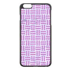 Woven1 White Marble & Purple Colored Pencil (r) Apple Iphone 6 Plus/6s Plus Black Enamel Case