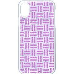 Woven1 White Marble & Purple Colored Pencil (r) Apple Iphone X Seamless Case (white)