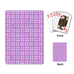 Woven1 White Marble & Purple Colored Pencil Playing Card