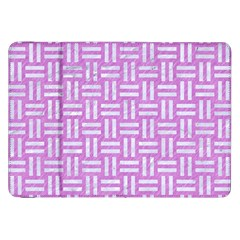 Woven1 White Marble & Purple Colored Pencil Samsung Galaxy Tab 8 9  P7300 Flip Case