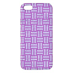 Woven1 White Marble & Purple Colored Pencil Iphone 5s/ Se Premium Hardshell Case