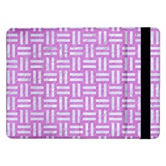 Woven1 White Marble & Purple Colored Pencil Samsung Galaxy Tab Pro 12 2  Flip Case