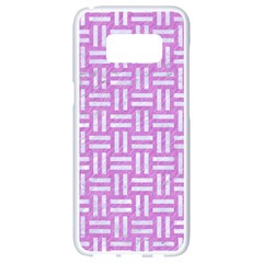 Woven1 White Marble & Purple Colored Pencil Samsung Galaxy S8 White Seamless Case