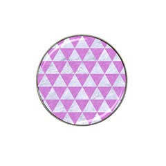 Triangle3 White Marble & Purple Colored Pencil Hat Clip Ball Marker (10 Pack)