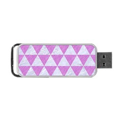 Triangle3 White Marble & Purple Colored Pencil Portable Usb Flash (two Sides)