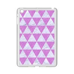 Triangle3 White Marble & Purple Colored Pencil Ipad Mini 2 Enamel Coated Cases