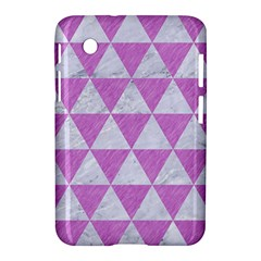 Triangle3 White Marble & Purple Colored Pencil Samsung Galaxy Tab 2 (7 ) P3100 Hardshell Case