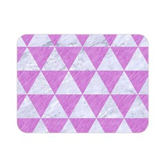 Triangle3 White Marble & Purple Colored Pencil Double Sided Flano Blanket (mini)