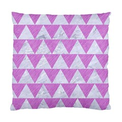 Triangle2 White Marble & Purple Colored Pencil Standard Cushion Case (two Sides)