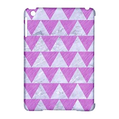 Triangle2 White Marble & Purple Colored Pencil Apple Ipad Mini Hardshell Case (compatible With Smart Cover)
