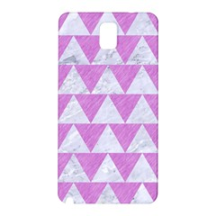 Triangle2 White Marble & Purple Colored Pencil Samsung Galaxy Note 3 N9005 Hardshell Back Case