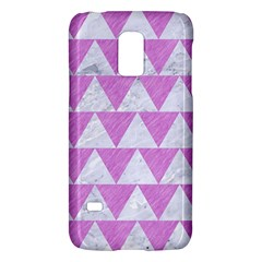 Triangle2 White Marble & Purple Colored Pencil Galaxy S5 Mini