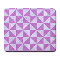Triangle1 White Marble & Purple Colored Pencil Large Mousepads