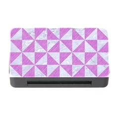Triangle1 White Marble & Purple Colored Pencil Memory Card Reader With Cf