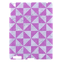 Triangle1 White Marble & Purple Colored Pencil Apple Ipad 3/4 Hardshell Case