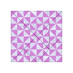 Triangle1 White Marble & Purple Colored Pencil Acrylic Tangram Puzzle (4  X 4 )