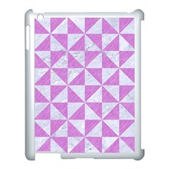 Triangle1 White Marble & Purple Colored Pencil Apple Ipad 3/4 Case (white)