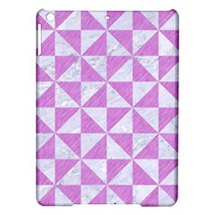 Triangle1 White Marble & Purple Colored Pencil Ipad Air Hardshell Cases