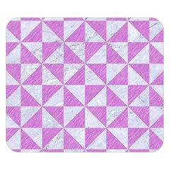 Triangle1 White Marble & Purple Colored Pencil Double Sided Flano Blanket (small)