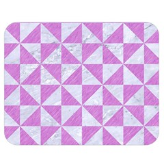 Triangle1 White Marble & Purple Colored Pencil Double Sided Flano Blanket (medium)