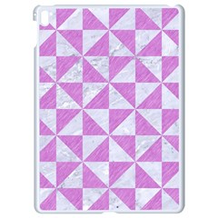 Triangle1 White Marble & Purple Colored Pencil Apple Ipad Pro 9 7   White Seamless Case