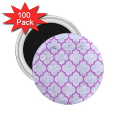 Tile1 White Marble & Purple Colored Pencil (r) 2 25  Magnets (100 Pack)