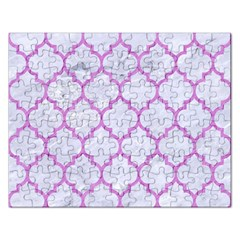 Tile1 White Marble & Purple Colored Pencil (r) Rectangular Jigsaw Puzzl