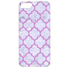 Tile1 White Marble & Purple Colored Pencil (r) Apple Iphone 5 Classic Hardshell Case