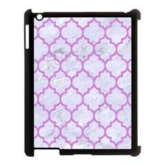 Tile1 White Marble & Purple Colored Pencil (r) Apple Ipad 3/4 Case (black)