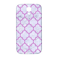 Tile1 White Marble & Purple Colored Pencil (r) Samsung Galaxy S4 I9500/i9505  Hardshell Back Case