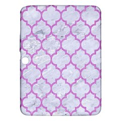 Tile1 White Marble & Purple Colored Pencil (r) Samsung Galaxy Tab 3 (10 1 ) P5200 Hardshell Case