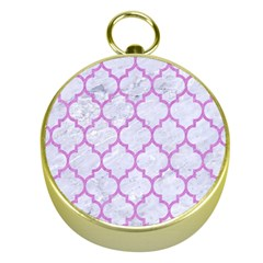Tile1 White Marble & Purple Colored Pencil (r) Gold Compasses