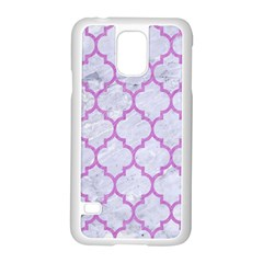 Tile1 White Marble & Purple Colored Pencil (r) Samsung Galaxy S5 Case (white)