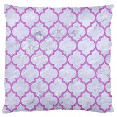 Tile1 White Marble & Purple Colored Pencil (r) Standard Flano Cushion Case (two Sides)