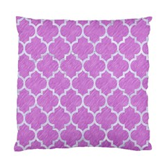 Tile1 White Marble & Purple Colored Pencil Standard Cushion Case (two Sides)
