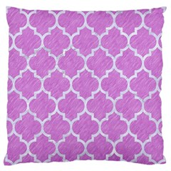 Tile1 White Marble & Purple Colored Pencil Large Cushion Case (two Sides)