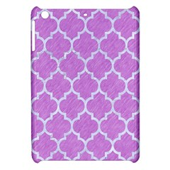 Tile1 White Marble & Purple Colored Pencil Apple Ipad Mini Hardshell Case