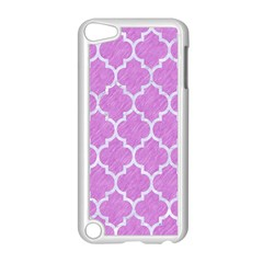 Tile1 White Marble & Purple Colored Pencil Apple Ipod Touch 5 Case (white)
