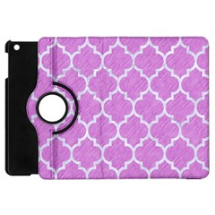 Tile1 White Marble & Purple Colored Pencil Apple Ipad Mini Flip 360 Case