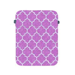 Tile1 White Marble & Purple Colored Pencil Apple Ipad 2/3/4 Protective Soft Cases