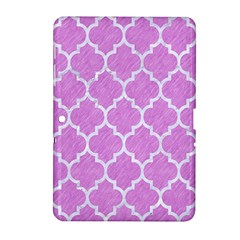Tile1 White Marble & Purple Colored Pencil Samsung Galaxy Tab 2 (10 1 ) P5100 Hardshell Case