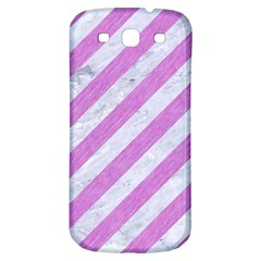 Stripes3 White Marble & Purple Colored Pencil (r) Samsung Galaxy S3 S Iii Classic Hardshell Back Case