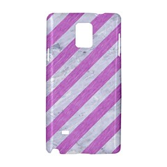 Stripes3 White Marble & Purple Colored Pencil (r) Samsung Galaxy Note 4 Hardshell Case