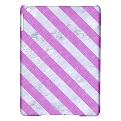 Stripes3 White Marble & Purple Colored Pencil Ipad Air Hardshell Cases