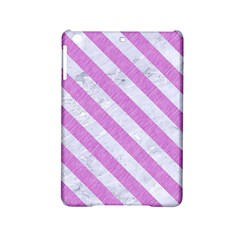 Stripes3 White Marble & Purple Colored Pencil Ipad Mini 2 Hardshell Cases