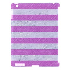 Stripes2white Marble & Purple Colored Pencil Apple Ipad 3/4 Hardshell Case (compatible With Smart Cover)