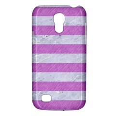 Stripes2white Marble & Purple Colored Pencil Galaxy S4 Mini