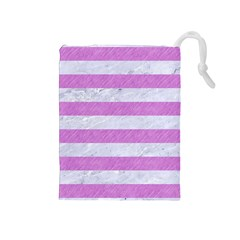 Stripes2white Marble & Purple Colored Pencil Drawstring Pouches (medium)