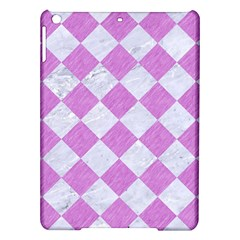 Square2 White Marble & Purple Colored Pencil Ipad Air Hardshell Cases